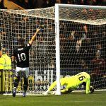 Raith v Dunfermline - LEWIS VAUGHAN celebrates 2nd goal credit- Fife Photo Agency