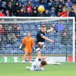 Raith v Montrose -  EUAN MURRAY clears - credit- Fife Photo Agency