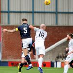 Raith v Montrose -  Euan Murray scores from Wedderburn chip -  credit- Fife Photo Agency