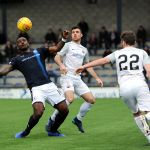 Raith v Montrose -  NAT WEDDERBURN keeps control in midfield -  credit- Fife Photo Agency
