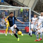 Raith v Montrose - Liam Buchanan in the Montrose box -  credit- Fife Photo Agency