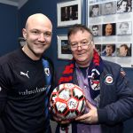 Raith v Airdrie - Ball Sponsors RDS with Grant Gillespie - credit- Fife Photo Agency