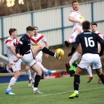 Raith v Airdrie - Kevin Nisbet in the box - credit- Fife Photo Agency