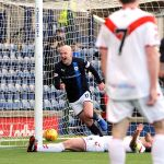 Raith v Airdrie - Gillespie celebrates after scoring credit- Fife Photo Agency
