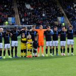 Raith v Dumbarton  - 1 MINUTE SILENCE for ALEC CONDIE, MBE -  credit- Fife Photo Agency