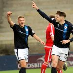 Stark's Park - Kirkcaldy - Fife -  Raith v Brechin  - KEVIN NISBET 2ND GOAL CELEBRATION  - credit- Fife Photo Agency