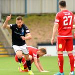 Stark's Park - Kirkcaldy - Fife -  Raith v Brechin  - LIAM BUCHANAN GOAL CELEBRATION  - credit- Fife Photo Agency