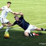 18 Lewis Allan slides in