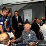 43 The players post match visit to the Rait suite