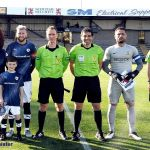 2 Mascot Kian with the Officials and Captains