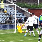 236 Goal Raith from Danny Armstrongs free kick