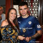 Man of the match Danny with Roxanne Wishart