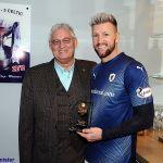 27 Sandy Pearson presents Davo with his MotM award