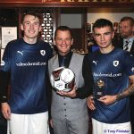 28 Greig Turner accepts a Ball on behalf of Blnd Davy's