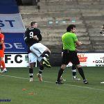 29 Lewis Allan celebrates scoring Raith's third goal