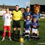 5 The Mascots with the Captains and Referee