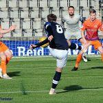 6 Regan Hendry tries a shot on goal
