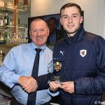 28 James Mackie presents Kieran MacDonald with the MotM award