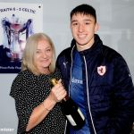 28 MotM kieron with sponsor Shirley Sutherland