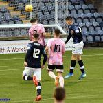 3 Kieron heads for goal