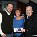 3 McMillan Club £3000 cheque presentation