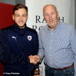 36 MotM Jamie Gullan with Jim Campbell from Sponsios James property