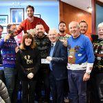 2 Jim McMillan Club £4000 cheque presentation
