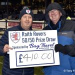 20 50-50 Winner Kevin Todd with Gordon Arthur