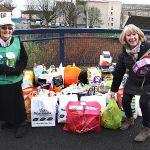3 Lynn Watt adds to the Kirkcaldy Foodbank donations
