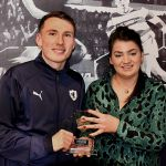 32 Man of the Match award presented by Lynne Falconer