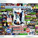 A3 Framed Photo montage of the 1994 Coca Cola Cup Final win