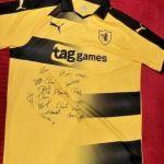 Signed Kieron Bowie match shirt – full Raith squad signatures