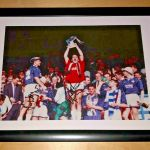 A4 Framed Signed Photo of Peter Hetherston lifting the First Division trophy in 1992-93