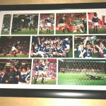 A4 Framed Signed Photo montage of Raith's Coca Cola Cup win in 1994
