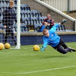 Kyle at full stretch on matchday...
