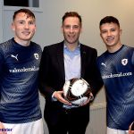 35 Ball Sponsor Chris wood with Regan and Dylan
