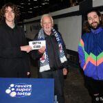 Shambolics present Alan Steadman with his 50-50 prize